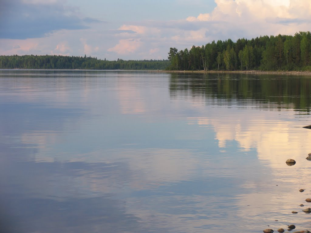 Рыбалка на озере сандал в карелии