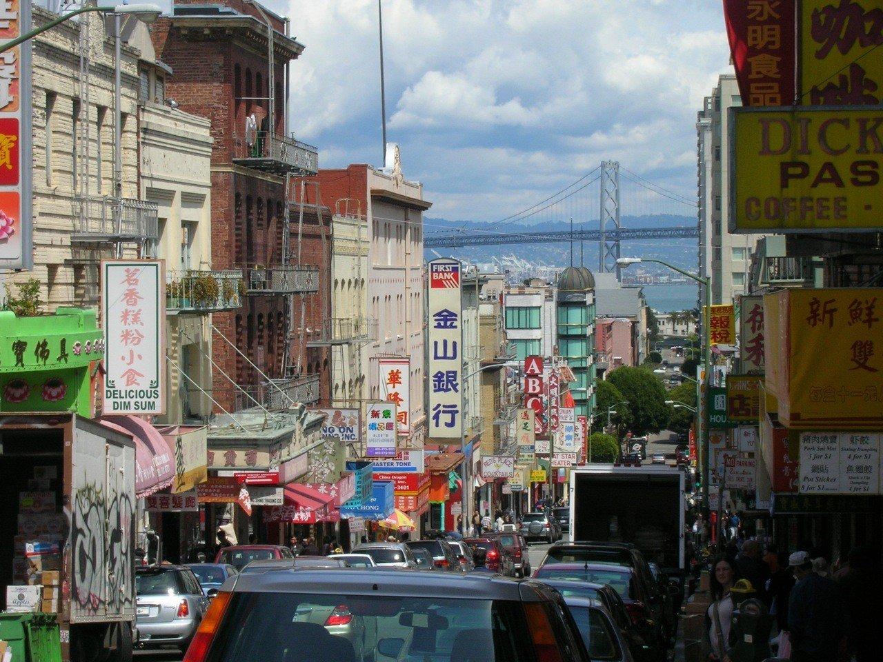 Обои перекресток, ночь, улица, дома, люди, Китайский квартал. Города foto 14