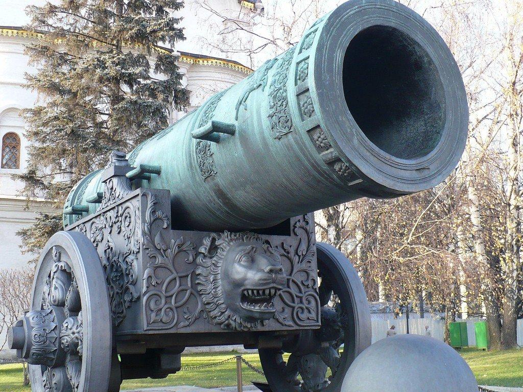 Картинки царь пушка в москве, черно белые город