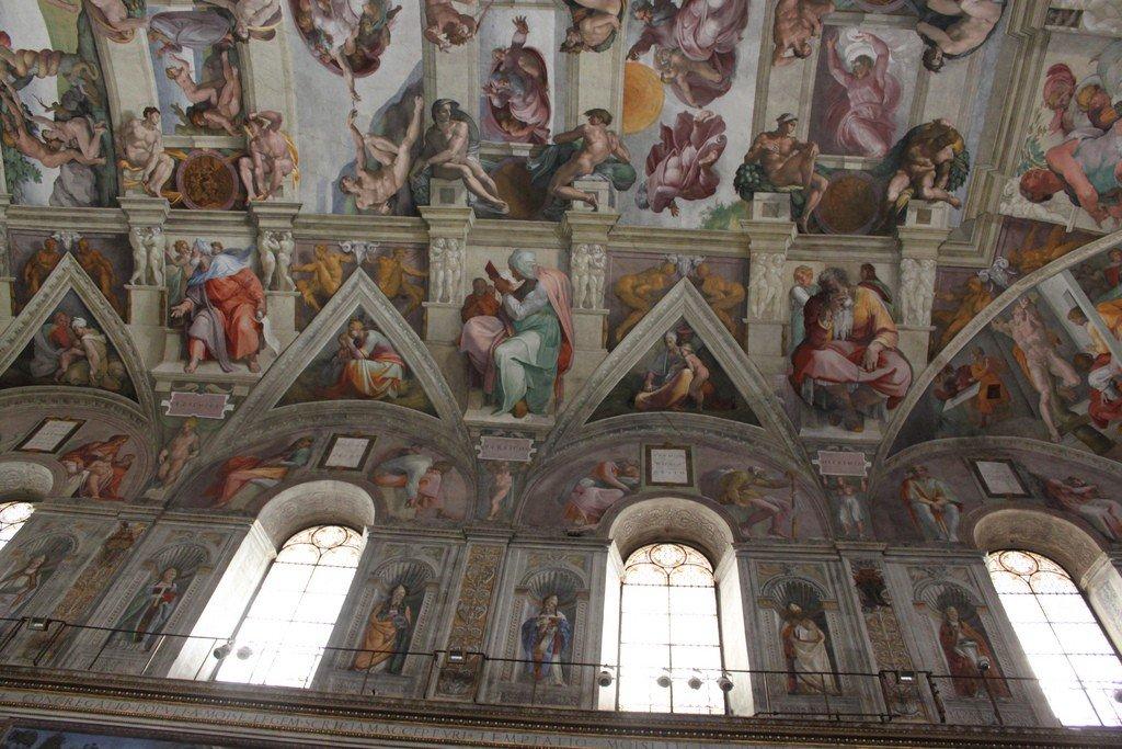 потолок сикстинской капеллы фотографии
