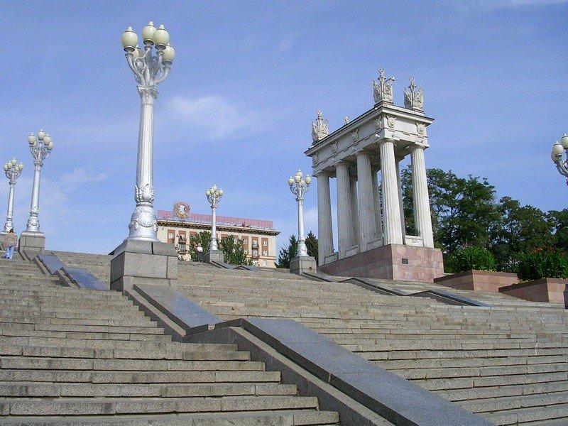Фото центральной набережной волгограда