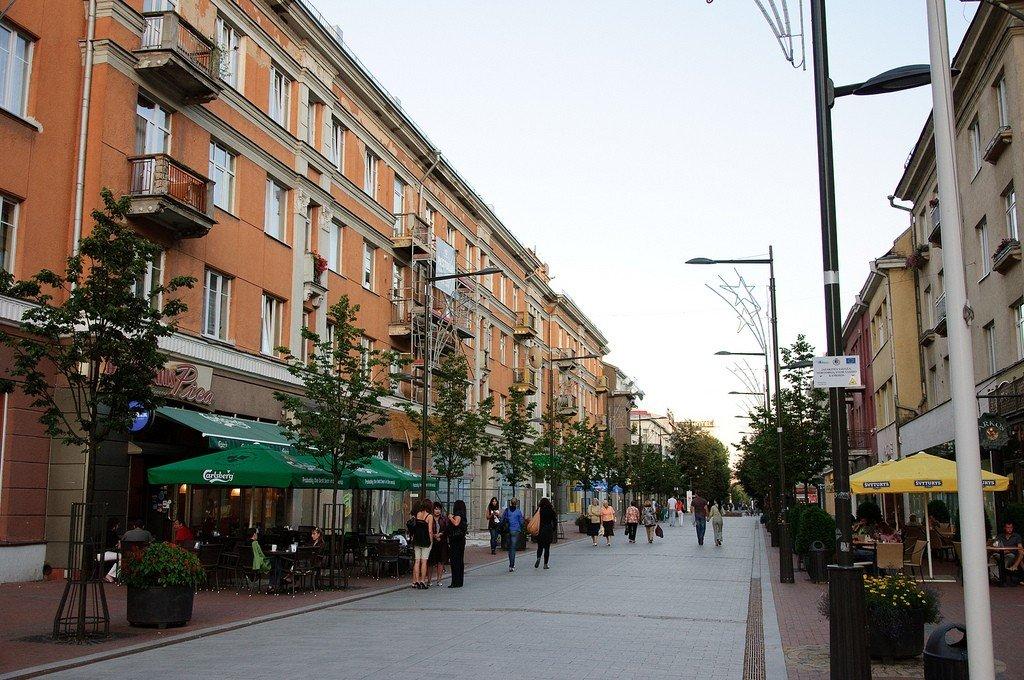 Пешеходная улица Вильняюс в Шауляе. Отзывы туристов. Авиакомпании.