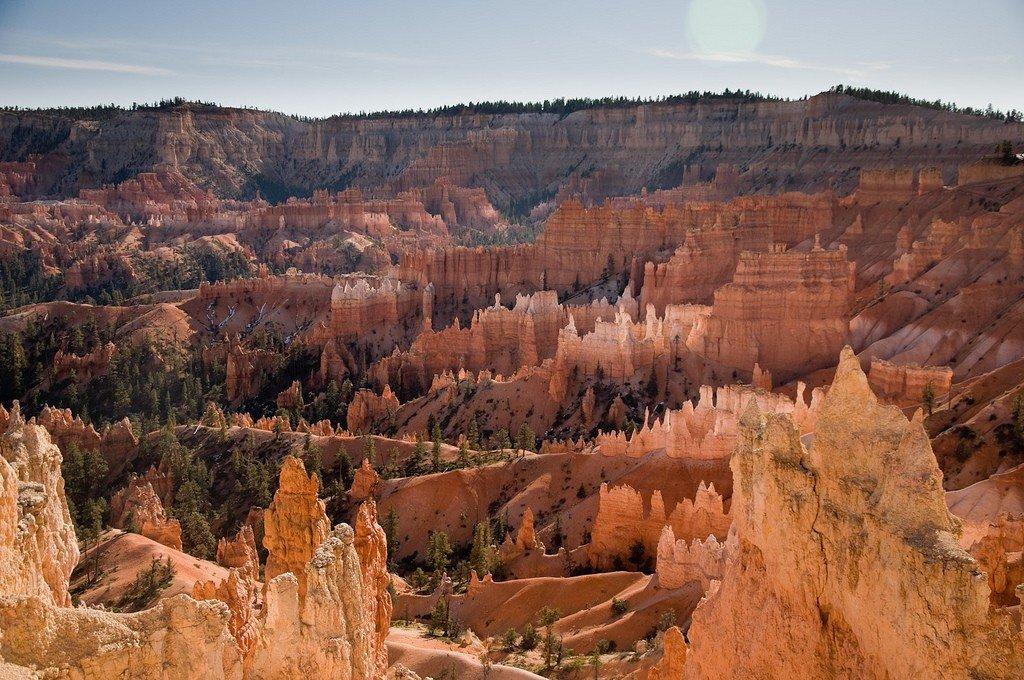 дорога на брайс каньон в марте