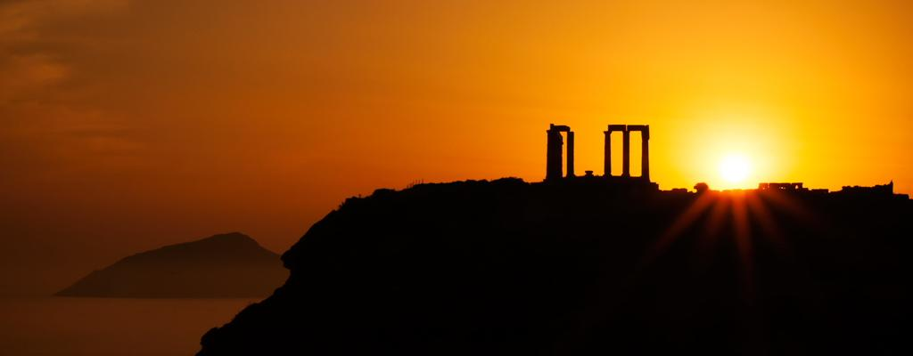 Закат над храмом Посейдона