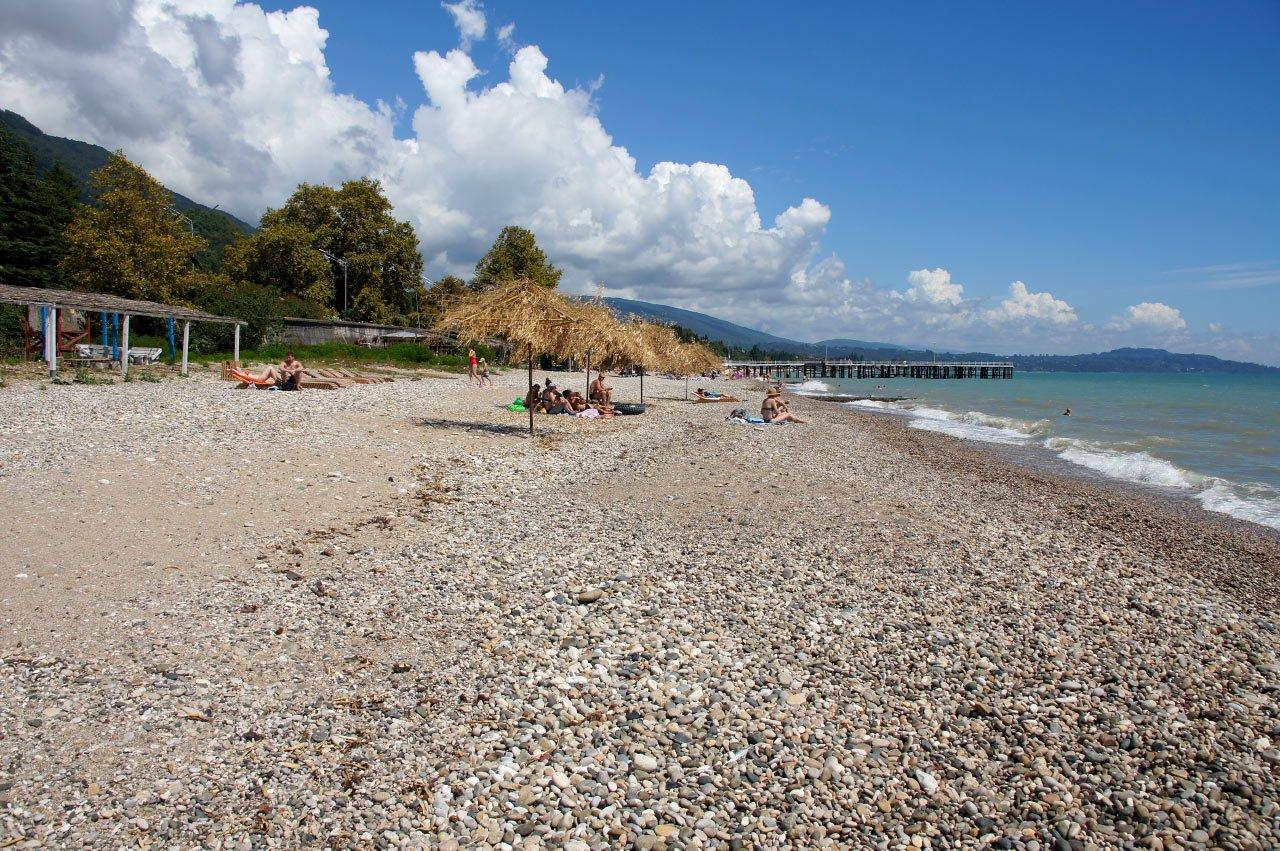 мягкой новый афон абхазия фото пляжа доме, где жил