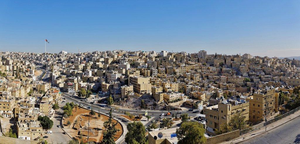 Панорама Аммана из цитадели