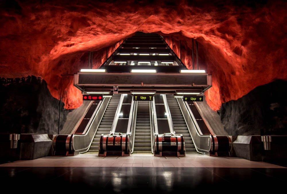 стокгольм станция метро фото летописе