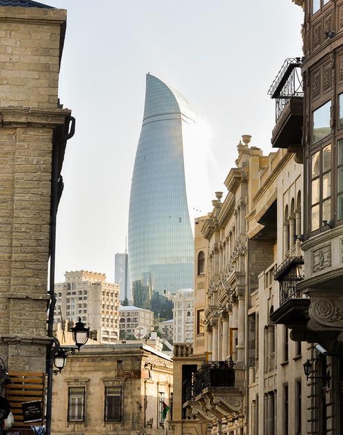 Вид Баку с птичьего полета - Азербайджан - Абшеронский район ... | 630x498