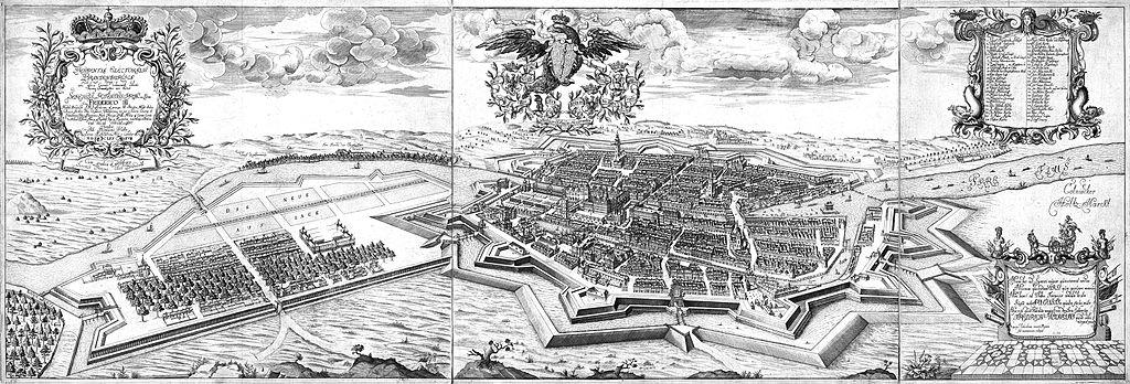 Вид на Берлин с юго-запада. Иоганн Бернхард Шульц. 1688