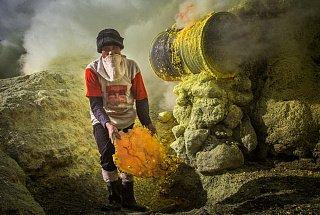 Вулкан Иджен вулкана Иджен Синим пламенем: покорение вулкана Иджен на острове Ява Dobycha sery na vulkane Idzhen 1