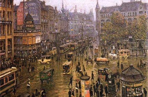 Берлин образца 1912 года на картине «Шпиттельмаркт» Пауля Хёнигера