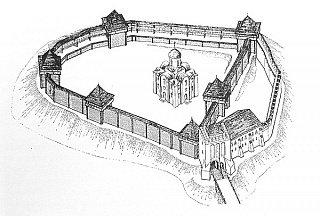 Замок Любарта Первый строительный период