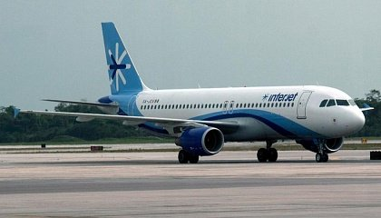Самолет Airbus A320 мексиканской авиакомпании Interjet