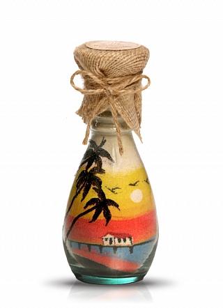 Бутылки с разноцветным песком