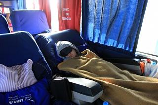Спальные кресла в автобусе leito