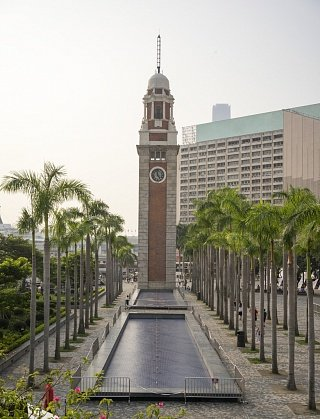 Часовая башня в районе Цим Ша Цуй
