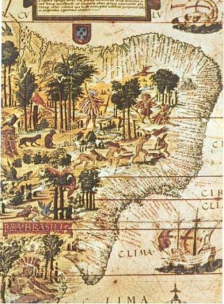 Деталь карты «Terra Brasilis» 1519 года