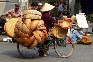 Перевозка плетеных корзинок