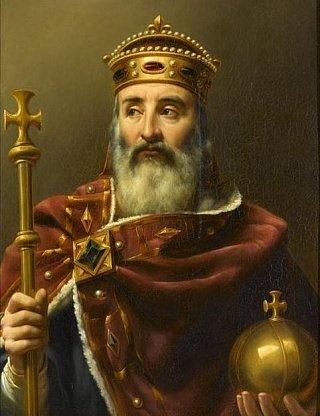 Карл Великий. Картина французского художника XIX в. Л.Ф. Амеля
