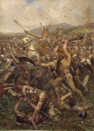 Германские племена одолели римлян в Тевтобургском лесу. 9 год н.э.