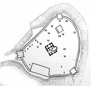 Застройка Верхнего замка в XVI в.
