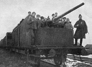 Эстонский бронепоезд в январе 1919 года