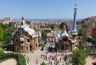 Барселона. Вид с парка Гуэля