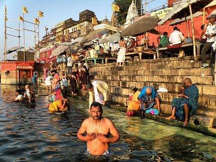 Омовение в священной реке Ганг
