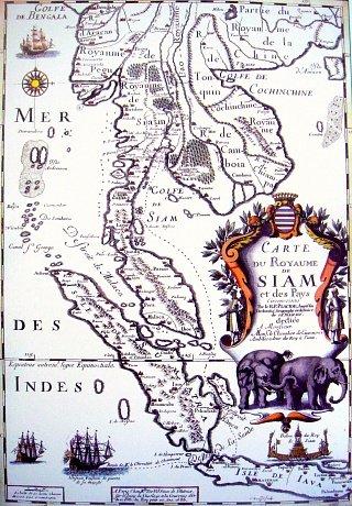 Французская карта Сиама 1686 г.