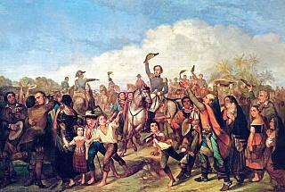 Принц Педро в Сан-Паулу после новости о независимости Бразилии 7 сентября 1822 года