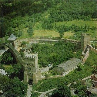 Фото Луцкого замка сверху, 1978 год