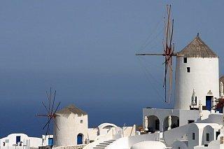 Старые ветряные мельницы Кикладских островов