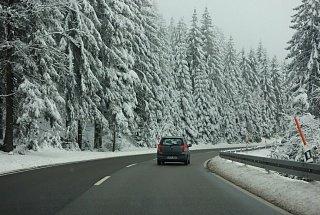 Снежная зима в Германии