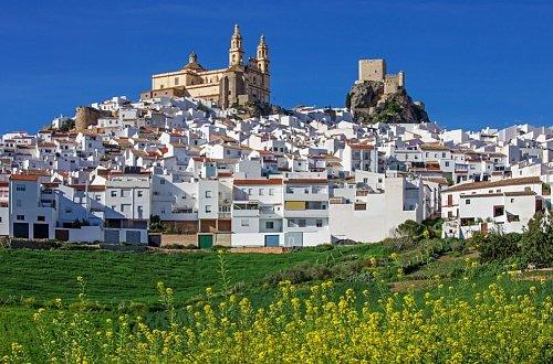 Вид на город Ольвера в Андалусии