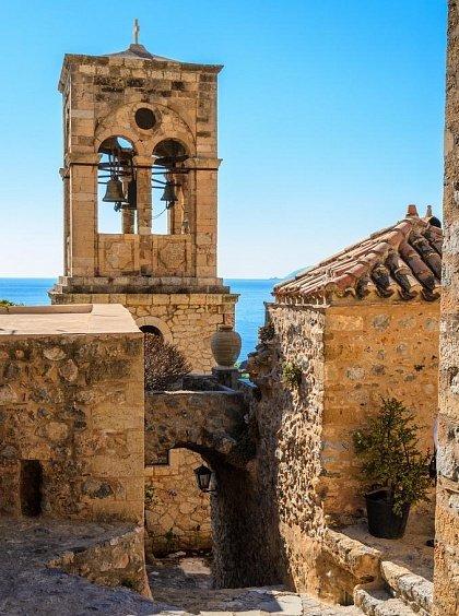 Колокольня в средневековом городе-крепости Монемвасия