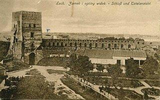 Замок Любарта на почтовой открытке XX века