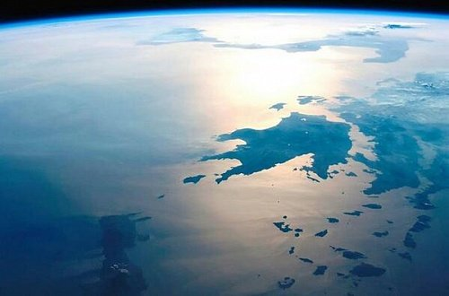 Греция из космоса