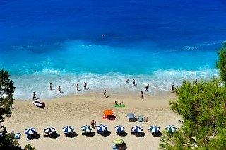 Пляж Эгремни на острове Лефкада