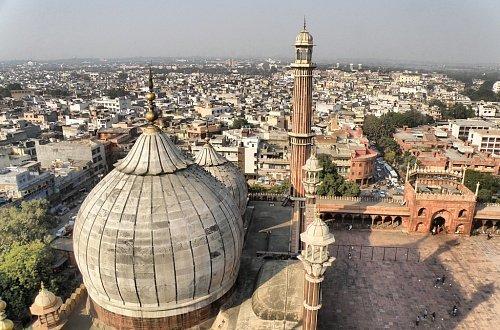 Вид на Дели с мечети Джама-Масджид