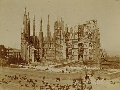 Собор Саграда Фамилия в 1906 году
