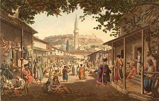 Рынок в Афинах. Эдвард Додвелл (1821 г.)