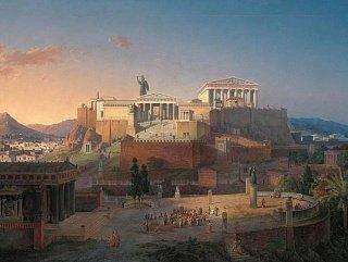 Афинский акрополь в период расцвета Греции (Реконструкция Лео фон Кленце 1846 года)