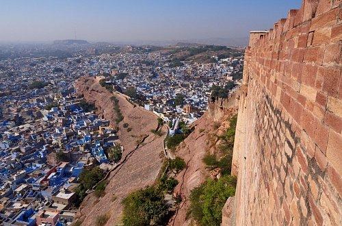 Вид с форта Мехрангарх на Джодхпур