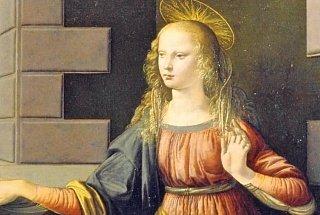 Фрагмент картины Леонардо да Винчи «Благовещение»