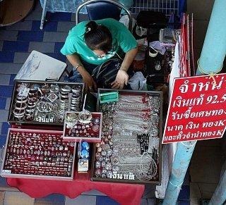 Продавец серебра в Таиланде
