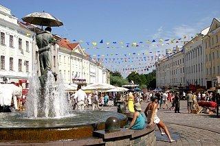 Центральная площадь в Тарту