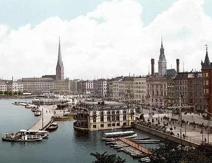 Гамбург на почтовой открытке 1895 года