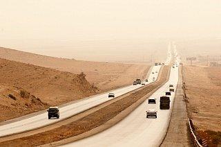 Дорога в пустыне Едем в Иорданию Едем в Иорданию 51 doroga v pustine