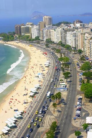 Отели вдоль пляжа Копакабана в Рио