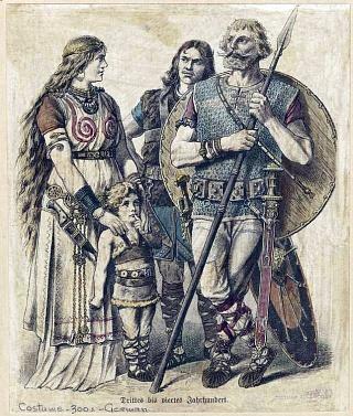 Семья древних германцев в 300-е годы